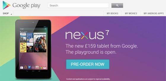 Google Nexus 7 Tablet Can Now Pre-Order