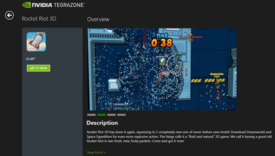 NVIDIA TegraZone gaming app arrives on Windows RT - PC - News
