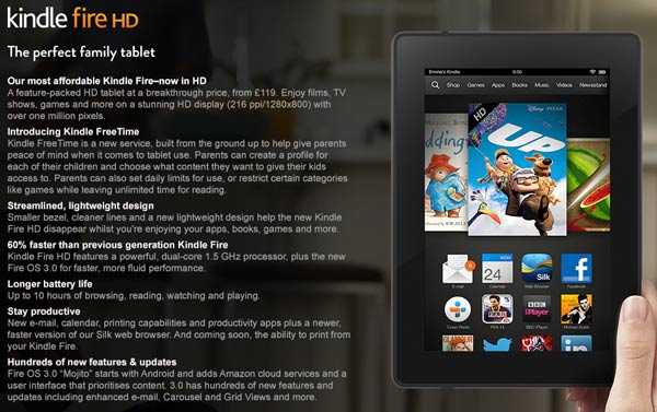 Amazon releases Kindle Fire HDX range in the UK - Tablets