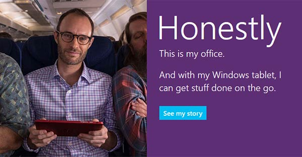 "Microsoft's new Surface 2 advert concentrates on ""real"
