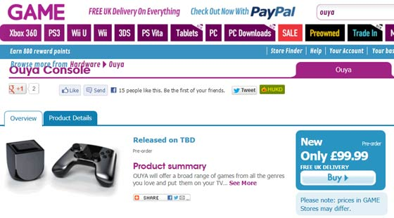 OUYA console starts to ship, pre-order from GAME for £99 - Android