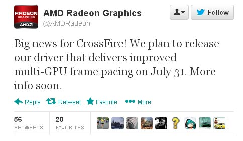 AMD will fix CrossFireX 'runt' frame issues at end of July