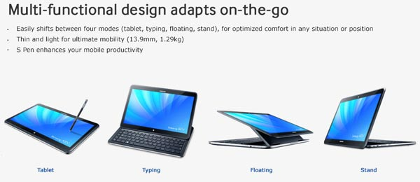 The Ativ Q Is A Hybrid Tablet Convertible With Several Operational Modes In Any Of Such As Laptop Mode Or Presentation You Can