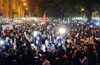 Thousands of Hungarians stage protest against Internet Tax plans