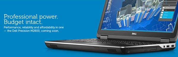 Dell launches Precision M2800 entry-level mobile workstation