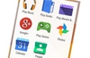 Images show flatter designed icons for many key stock Google apps.
