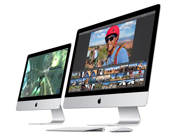 Apple iMacs have either 21.5-inch or 27-inch screens