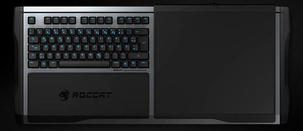 ROCCAT Has Sought To Make The SOVA Much More Than A Wireless Keyboard And Mousepad For Your Lap It Also Supports Smartphone Use Other Gaming