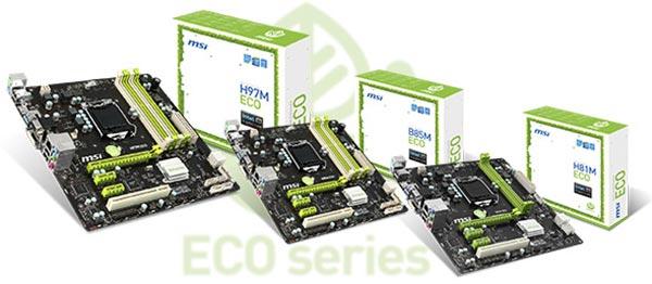 کمپانی MSI به طور رسمی مادربرد های سری ECO را معرفی کرد.