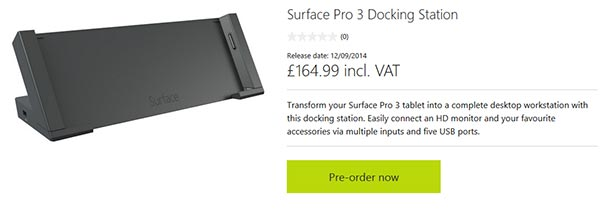 Microsoft Surface Pro 3 docking station on sale for $199 (£165