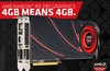 With the R9 290(X) graphics cards 4GB means 4GB, says AMD.