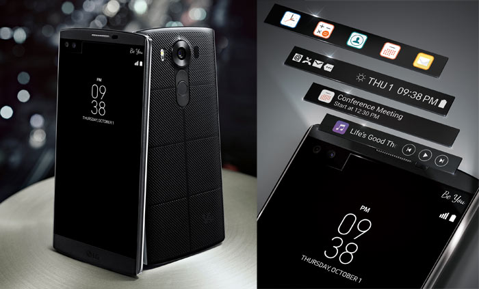 LG V10 premium smartphone features dual screens, cameras - Mobile