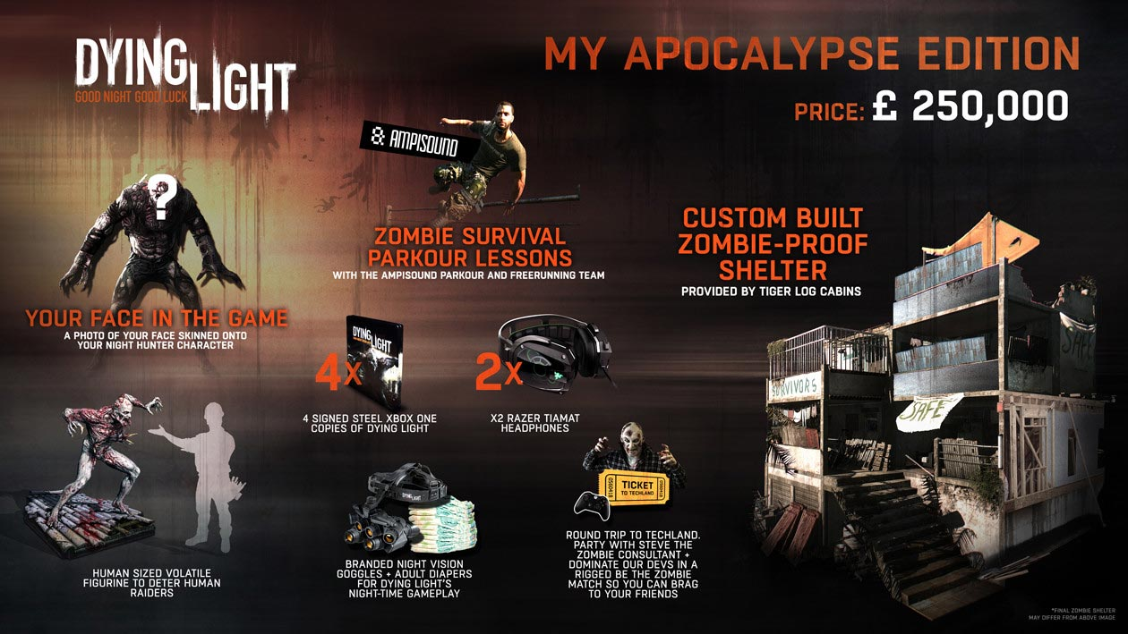 Dying Light My Apocalypse Edition Costs 163 250 000 In The