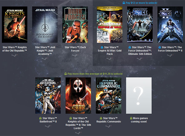 Humble Bundle offers nine classic Star Wars games for $12 - PC