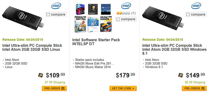Intel Compute Stick goes up for pre-order, available from 24
