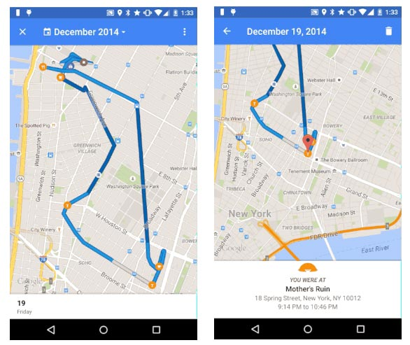 how to use timeline google maps