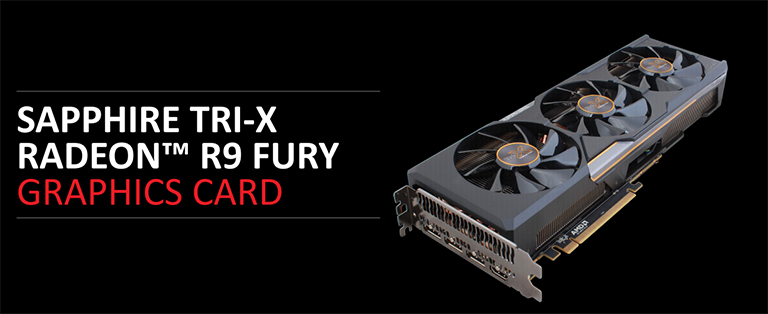 Sapphire TRI-X Radeon R9 Fury gaming graphics card