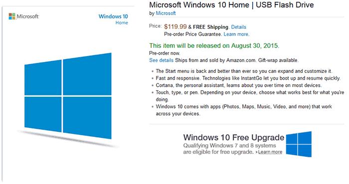 Microsoft Windows 10 Home English Usb Flash Drive: Microsoft Windows 10 On USB Flash Drives Now Up For Pre