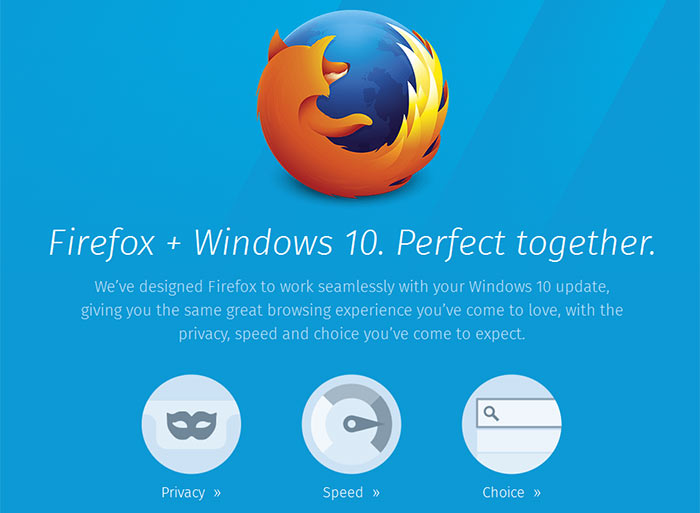 Firefox 40 provides a 'fresh new look' for Windows 10