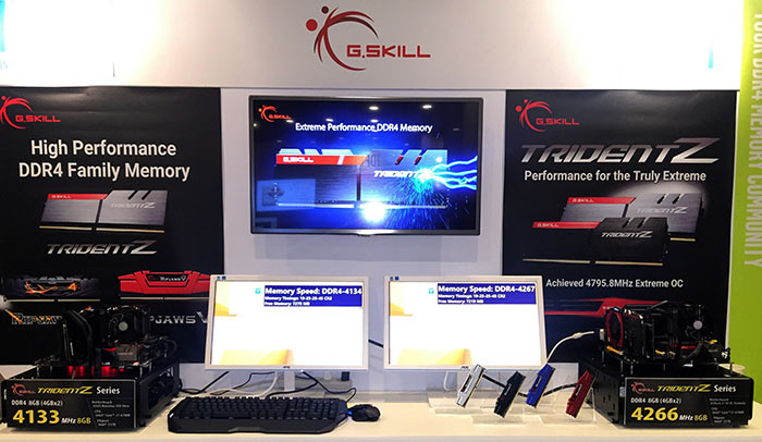 G SKILL demos its DDR4 4266MHz and DDR4 4133MHz Memory Kits