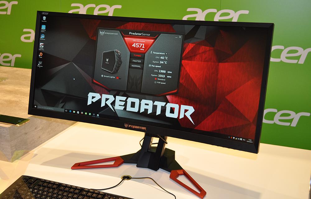 Monitor Predator Z35 G-Sync Acer curvo de 35 polegadas e  taxa de atualização de 200Hz