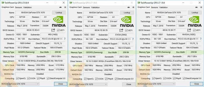 Nvidia GeForce GTX 1070 BIOS updates to fix memory issues