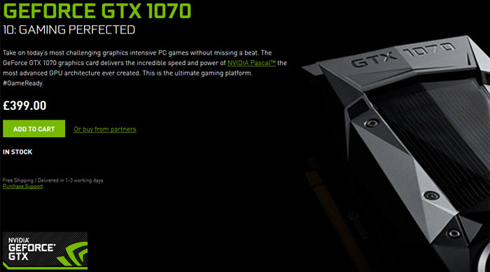 Nvidia GeForce GTX 1070 BIOS updates to fix memory issues - Graphics