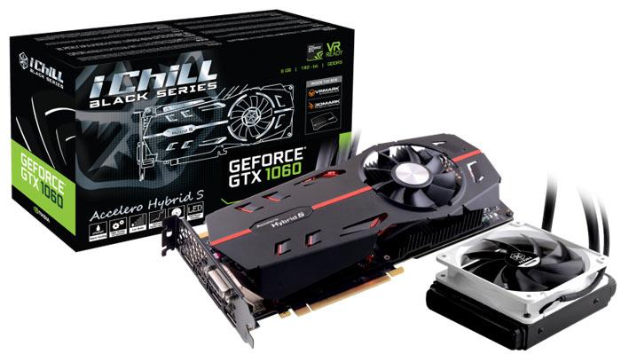 Inno3D GeForce GTX 1060 iChill Black with hybrid cooler revealed