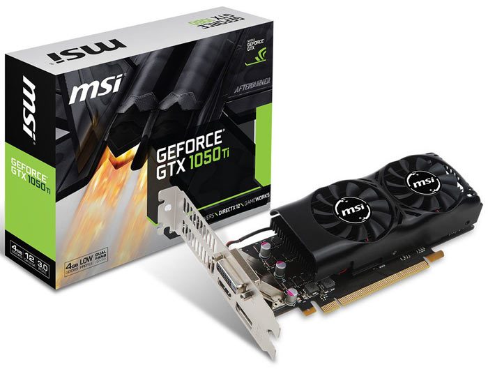 MSI releases low profile GeForce GTX 1050, 1050 Ti graphics