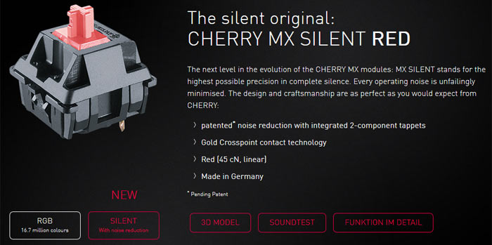 Cherry Mx Silent Key Switches Launched Marketwide