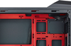 A mid-tower chassis for gamers taking the red-on-black approach.