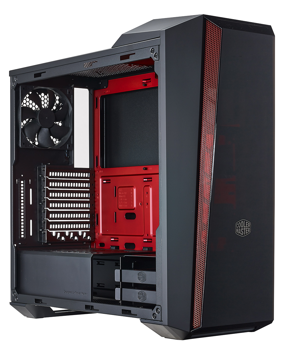 Review Cooler Master Masterbox 5t Chassis Cherry Machine Wiring Diagram Right Off The Bat Is An Acquired Taste For While Original 5 Was Reasonably Streamlined Adopts A Pointed