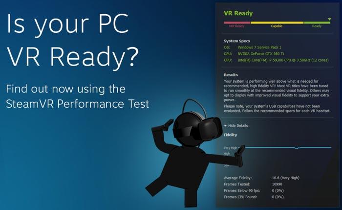 Valve's SteamVR Performance Test assesses PC VR readiness