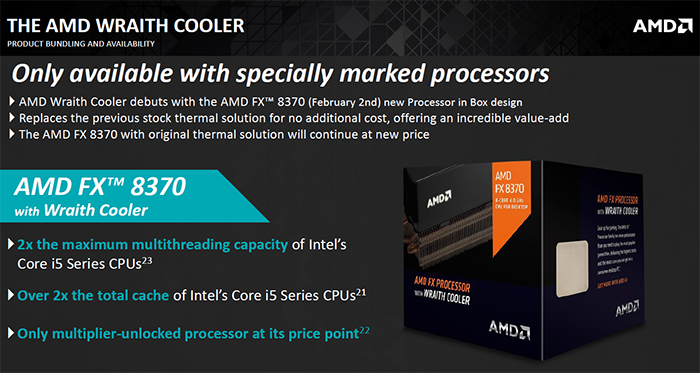 AMD desktop CPU update - Wraith cooling, new APUs - Cooling