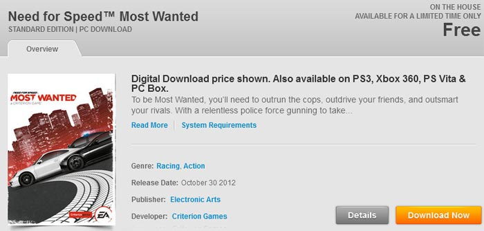 Need For Speed Most Wanted Is On The House Pc News Hexus Net