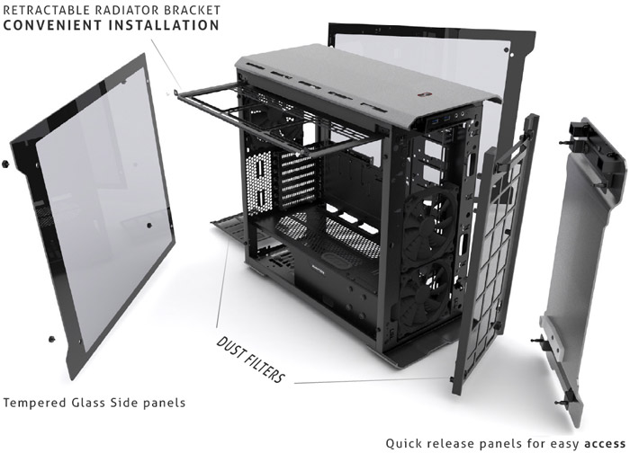Phanteks Enthoo EVOLV ATX Tempered Glass Edition launched