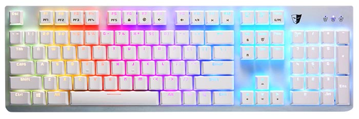 Tesoro white keyboard
