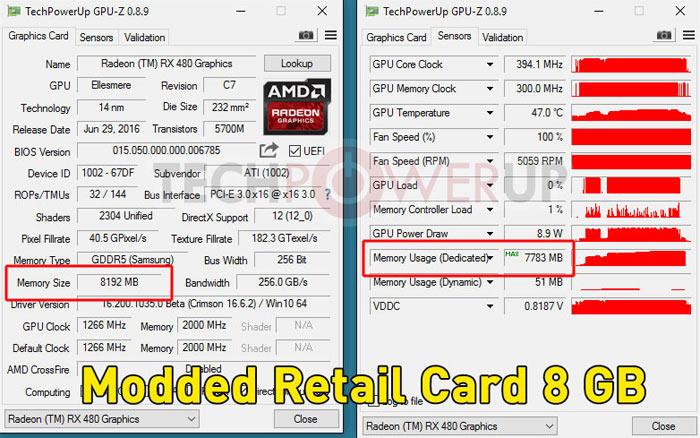 AMD Radeon RX 480 4GB is BIOS unlockable to 8GB says report