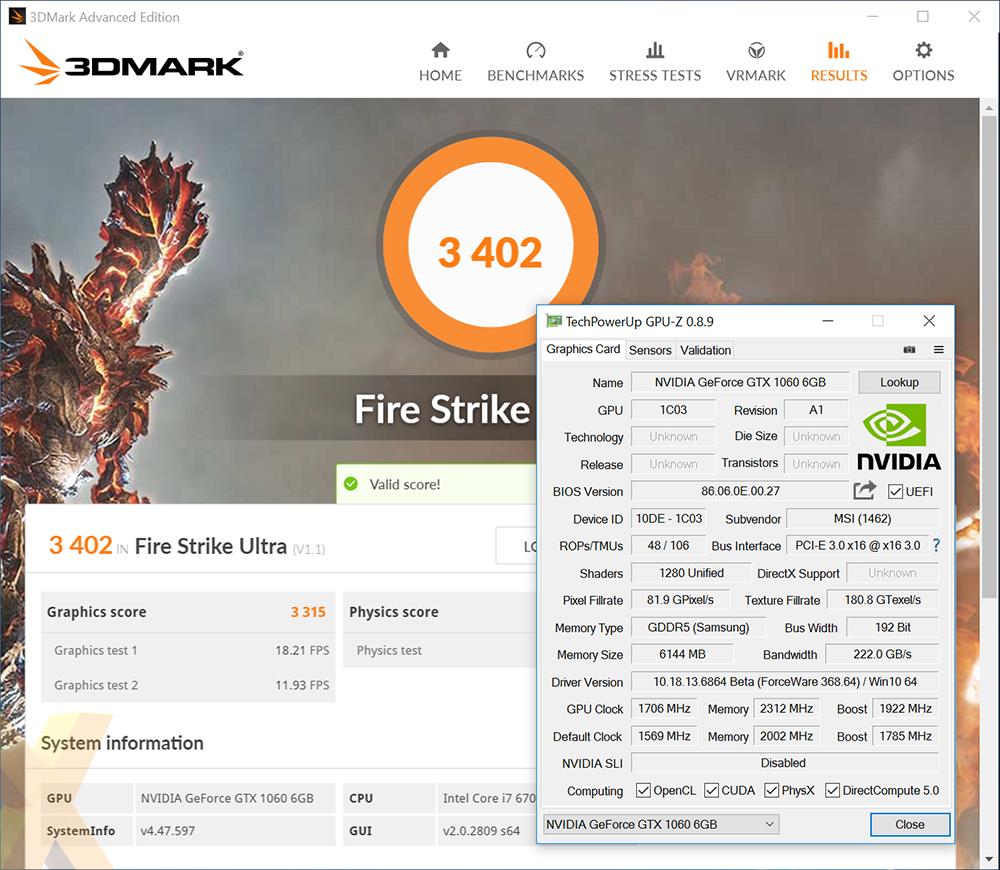Review: MSI GeForce GTX 1060 Gaming X - Graphics - HEXUS net - Page 12