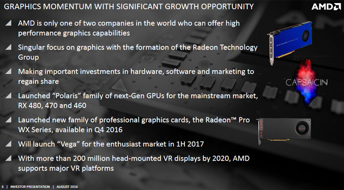 AMD investor slide touts enthusiast Vega H1 2017 launch