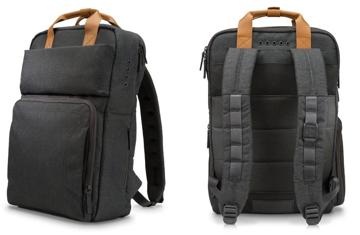 HP Powerup Backpack will charge your mobile, tablet, or laptop
