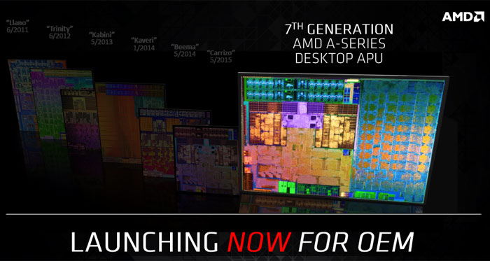 AMD's tuned-up Bristol Ridge processors come to desktop PCs this fall