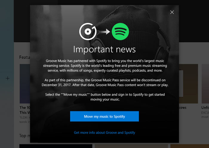 Microsoft to discontinue Groove Music subscription service