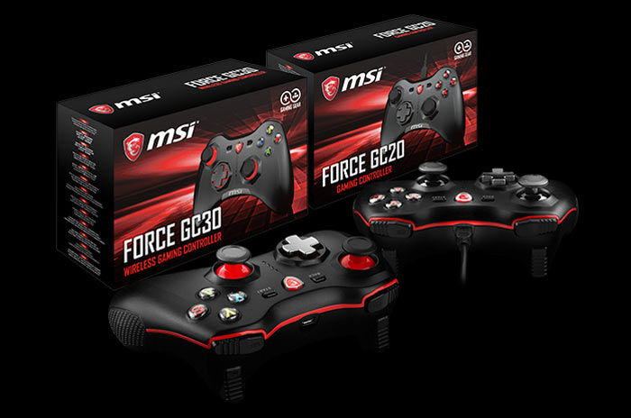 MSI announces Force GC20 and GC30 games controllers - Hardware