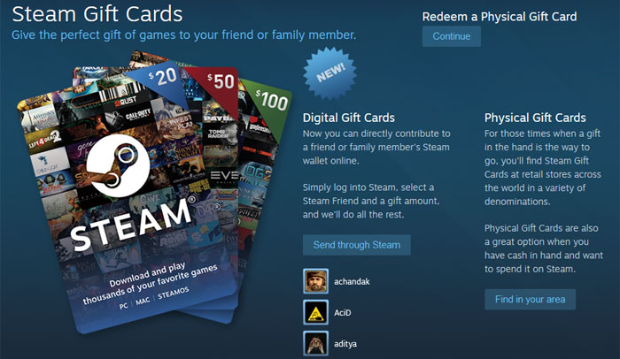 Valve begins to sell Digital Gift Cards - Industry - News - HEXUS.net