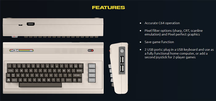 C64 Mini to hit retail early next year at £69 99/$69 99/€79 99