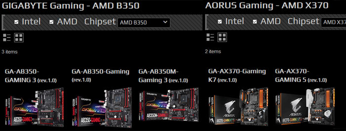 Gigabyte announces quintet of AMD Ryzen AM4 motherboards - Mainboard