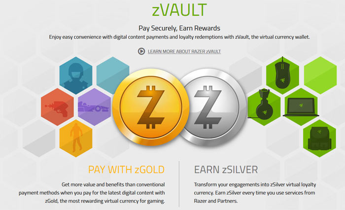 Razer intros its zGold and zSilver digital currency for