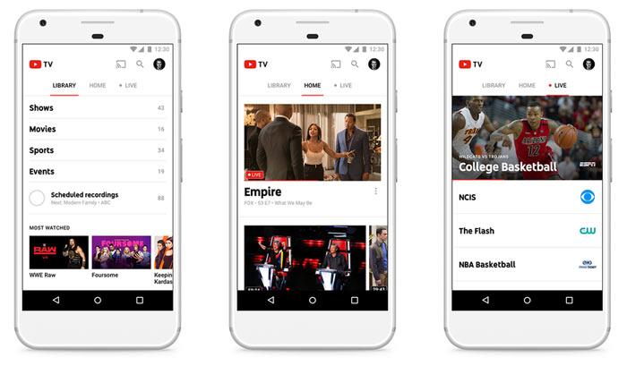 News] YouTube TV, live TV service, launches at $35pcm in USA