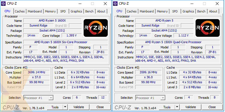 Review: AMD Ryzen 5 1500X and Ryzen 5 1600X (14nm Zen) - CPU